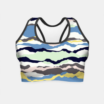 Miniatur Abstract Color Crop Top, Live Heroes