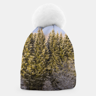 Miniatur Sunny winter forest Beanie, Live Heroes