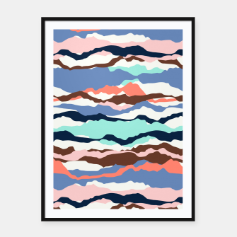 Miniatur Abstract Color Framed poster, Live Heroes