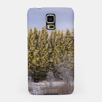 Miniatur Sunny winter forest Samsung Case, Live Heroes