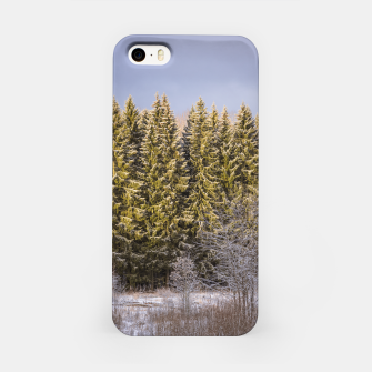 Miniature de image de Sunny winter forest iPhone Case, Live Heroes