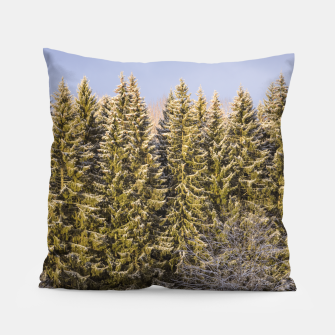 Miniature de image de Sunny winter forest Pillow, Live Heroes