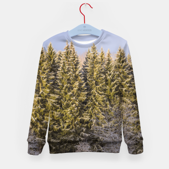 Miniature de image de Sunny winter forest Kid's sweater, Live Heroes