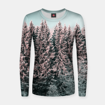 Thumbnail image of Sunny winter forest 2 Women sweater, Live Heroes