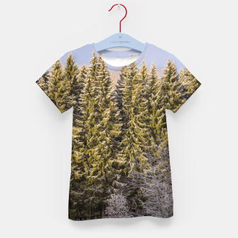 Miniature de image de Sunny winter forest Kid's t-shirt, Live Heroes