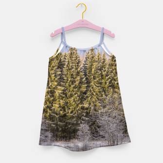 Miniature de image de Sunny winter forest Girl's dress, Live Heroes