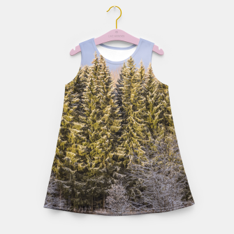 Miniature de image de Sunny winter forest Girl's summer dress, Live Heroes