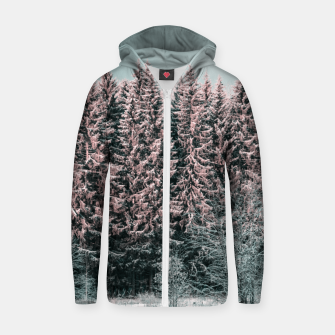 Miniature de image de Sunny winter forest 2 Zip up hoodie, Live Heroes