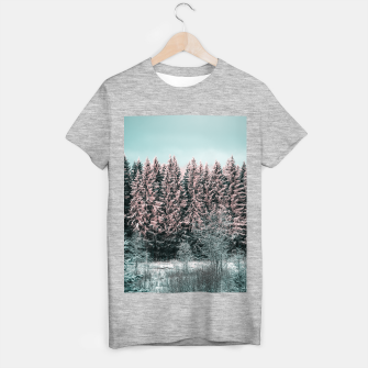 Miniatur Sunny winter forest 2 T-shirt regular, Live Heroes