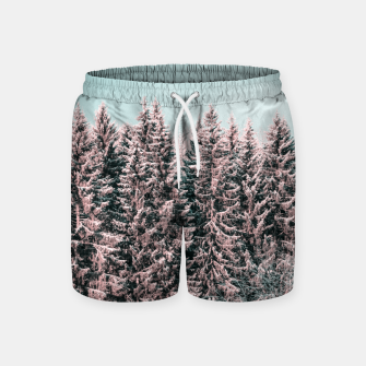 Miniature de image de Sunny winter forest 2 Swim Shorts, Live Heroes