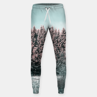 Miniature de image de Sunny winter forest 2 Sweatpants, Live Heroes