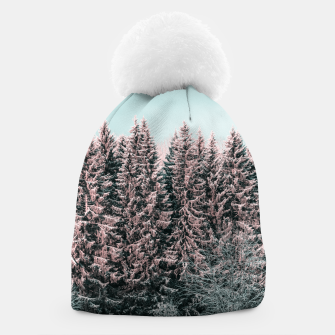 Miniatur Sunny winter forest 2 Beanie, Live Heroes