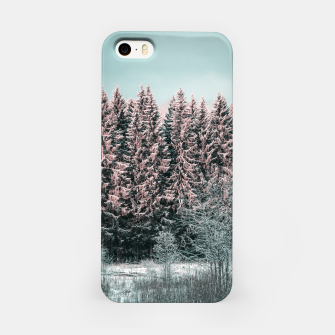 Miniature de image de Sunny winter forest 2 iPhone Case, Live Heroes