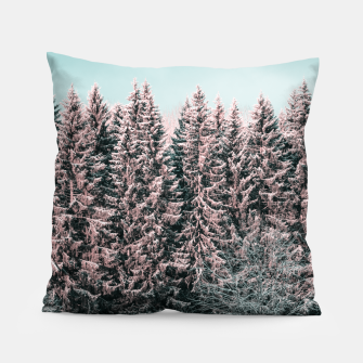 Miniature de image de Sunny winter forest 2 Pillow, Live Heroes