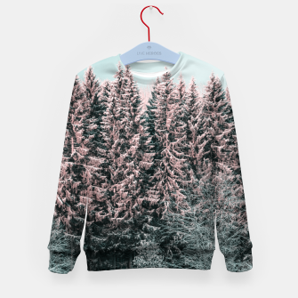 Miniature de image de Sunny winter forest 2 Kid's sweater, Live Heroes