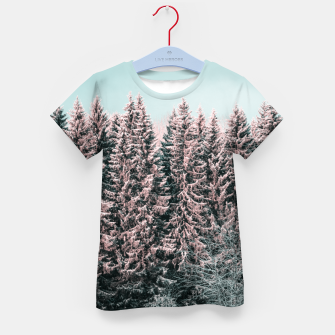 Miniatur Sunny winter forest 2 Kid's t-shirt, Live Heroes