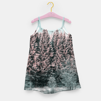 Miniatur Sunny winter forest 2 Girl's dress, Live Heroes