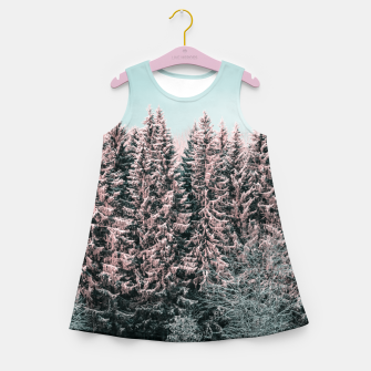 Miniatur Sunny winter forest 2 Girl's summer dress, Live Heroes