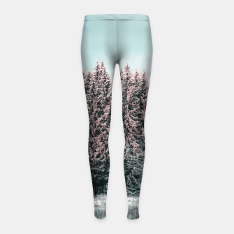 Miniatur Sunny winter forest 2 Girl's leggings, Live Heroes