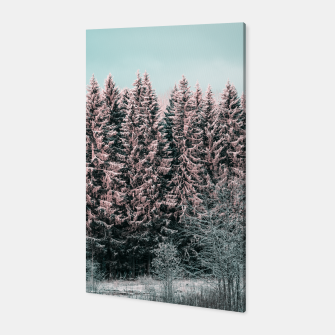 Miniatur Sunny winter forest 2 Canvas, Live Heroes