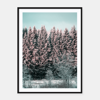 Miniatur Sunny winter forest 2 Framed poster, Live Heroes