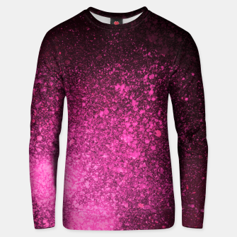 Thumbnail image of Fuchsia Magenta Black Abstract Spray Paint Unisex sweater, Live Heroes