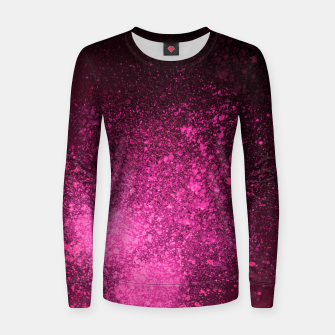 Thumbnail image of Fuchsia Magenta Black Abstract Spray Paint Women sweater, Live Heroes