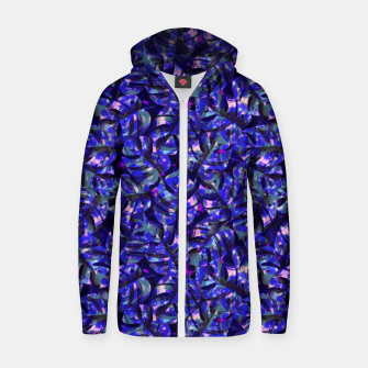Imagen en miniatura de Monstera Leaves Zip up hoodie, Live Heroes