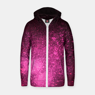 Miniature de image de Fuchsia Magenta Black Abstract Spray Paint Zip up hoodie, Live Heroes