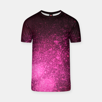 Thumbnail image of Fuchsia Magenta Black Abstract Spray Paint T-shirt, Live Heroes