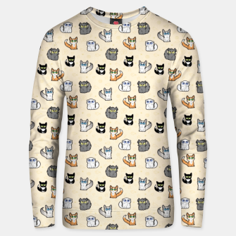 Thumbnail image of House Cats - Cartoon Pattern Peachy Unisex sweater, Live Heroes