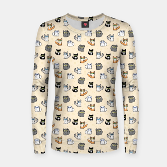 Thumbnail image of House Cats - Cartoon Pattern Peachy Women sweater, Live Heroes