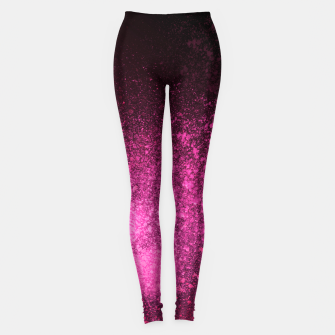 Miniaturka Fuchsia Magenta Black Abstract Spray Paint Leggings, Live Heroes
