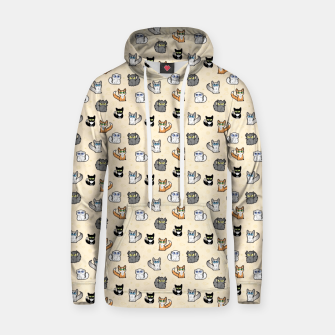 Thumbnail image of House Cats - Cartoon Pattern Peachy Hoodie, Live Heroes