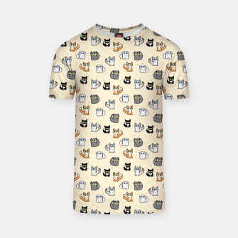 Thumbnail image of House Cats - Cartoon Pattern Peachy T-shirt, Live Heroes