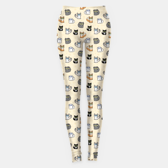 Miniaturka House Cats - Cartoon Pattern Peachy Leggings, Live Heroes