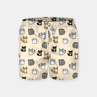 Imagen en miniatura de House Cats - Cartoon Pattern Peachy Swim Shorts, Live Heroes