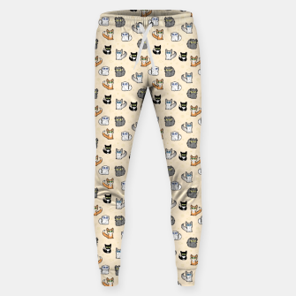 Imagen en miniatura de House Cats - Cartoon Pattern Peachy Sweatpants, Live Heroes