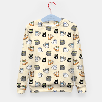 Imagen en miniatura de House Cats - Cartoon Pattern Peachy Kid's sweater, Live Heroes