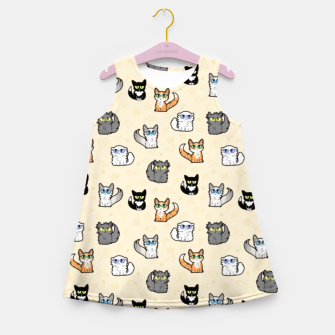Imagen en miniatura de House Cats - Cartoon Pattern Peachy Girl's summer dress, Live Heroes