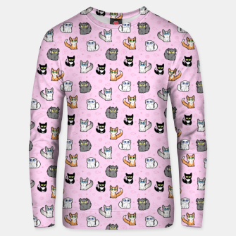 Thumbnail image of House Cats - Cartoon Pattern Pink Unisex sweater, Live Heroes