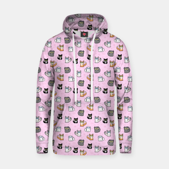 Thumbnail image of House Cats - Cartoon Pattern Pink Hoodie, Live Heroes
