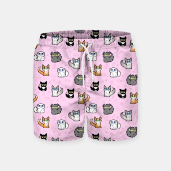 Imagen en miniatura de House Cats - Cartoon Pattern Pink Swim Shorts, Live Heroes