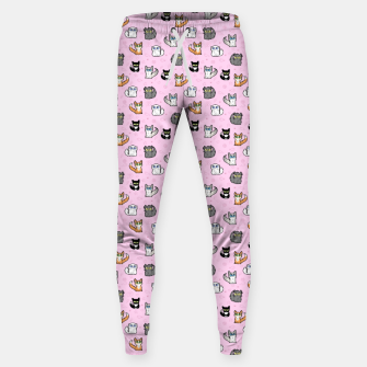 Imagen en miniatura de House Cats - Cartoon Pattern Pink Sweatpants, Live Heroes