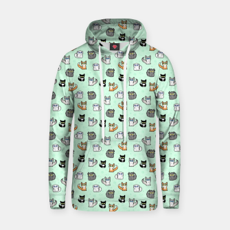 Thumbnail image of House Cats - Cartoon Pattern Green Hoodie, Live Heroes