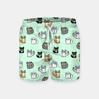 Imagen en miniatura de House Cats - Cartoon Pattern Green Swim Shorts, Live Heroes