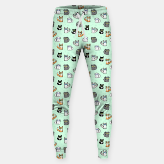 Imagen en miniatura de House Cats - Cartoon Pattern Green Sweatpants, Live Heroes