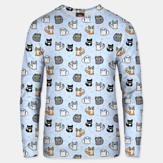 Thumbnail image of House Cats - Cartoon Pattern Blue Unisex sweater, Live Heroes