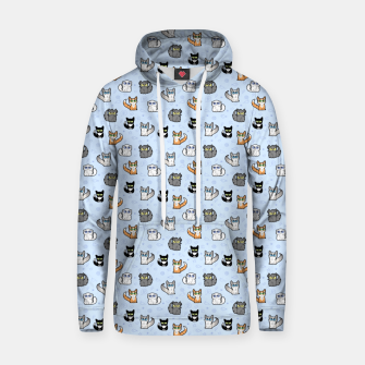 Thumbnail image of House Cats - Cartoon Pattern Blue Hoodie, Live Heroes