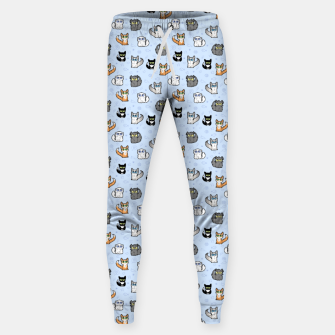 Imagen en miniatura de House Cats - Cartoon Pattern Blue Sweatpants, Live Heroes
